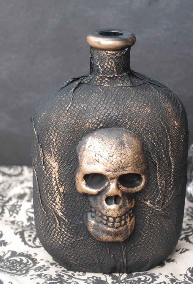 DIY Skull Apothecary Bottle