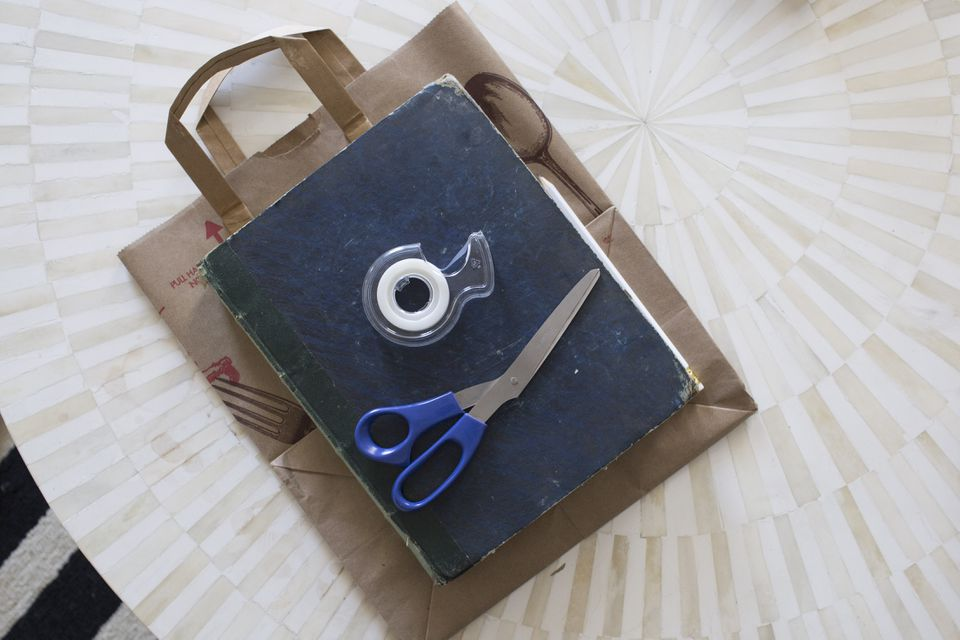 Paper Bag Book Cover With Handles : How to make a paper bag book cover