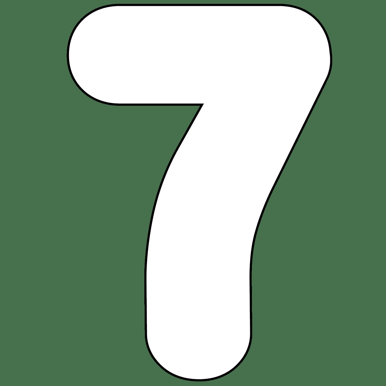 Printable number 7