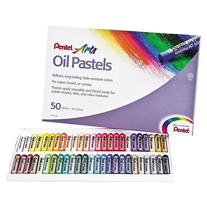 Pentel Oil Pastel Set With Carrying Case