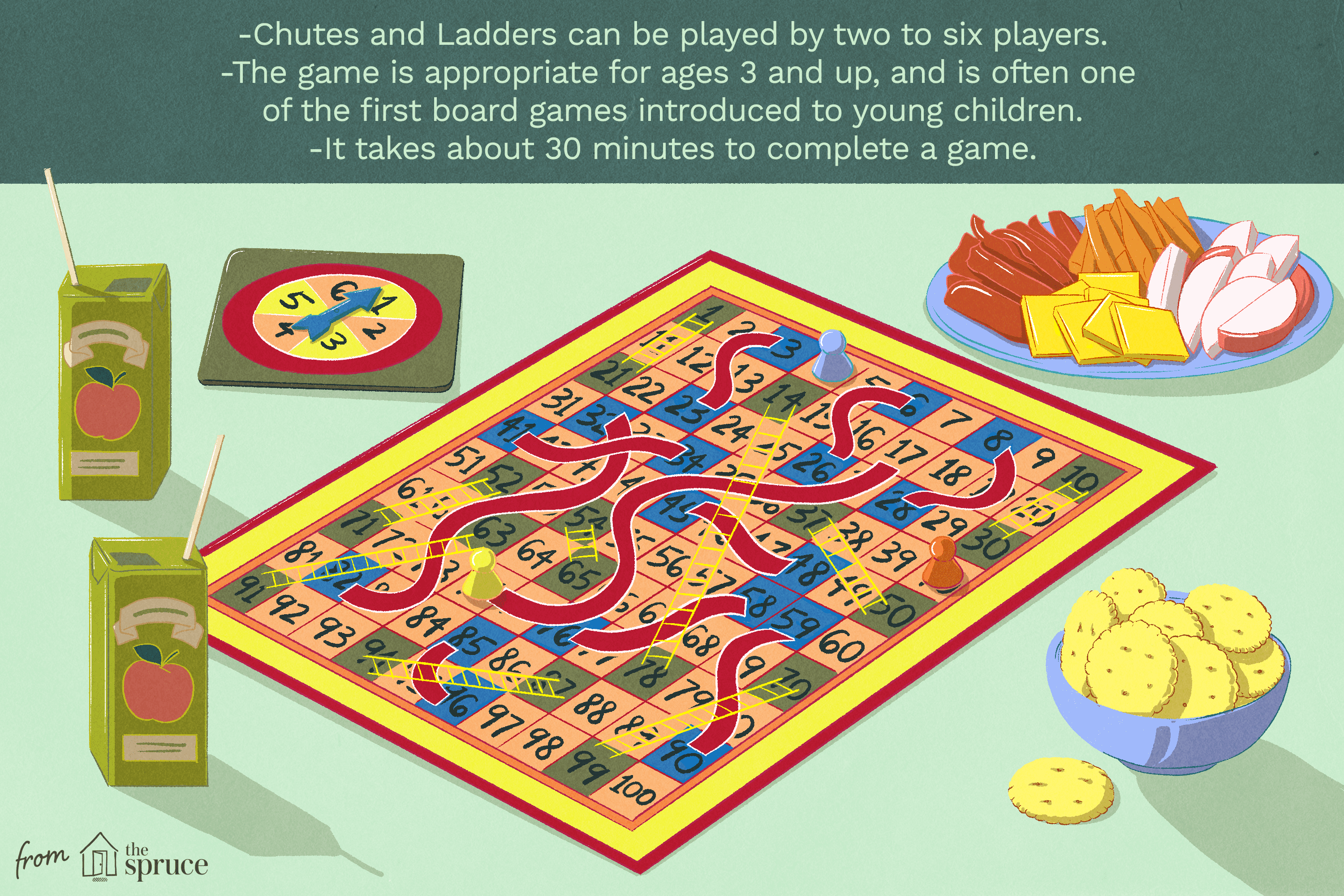 chutes and ladders illustration