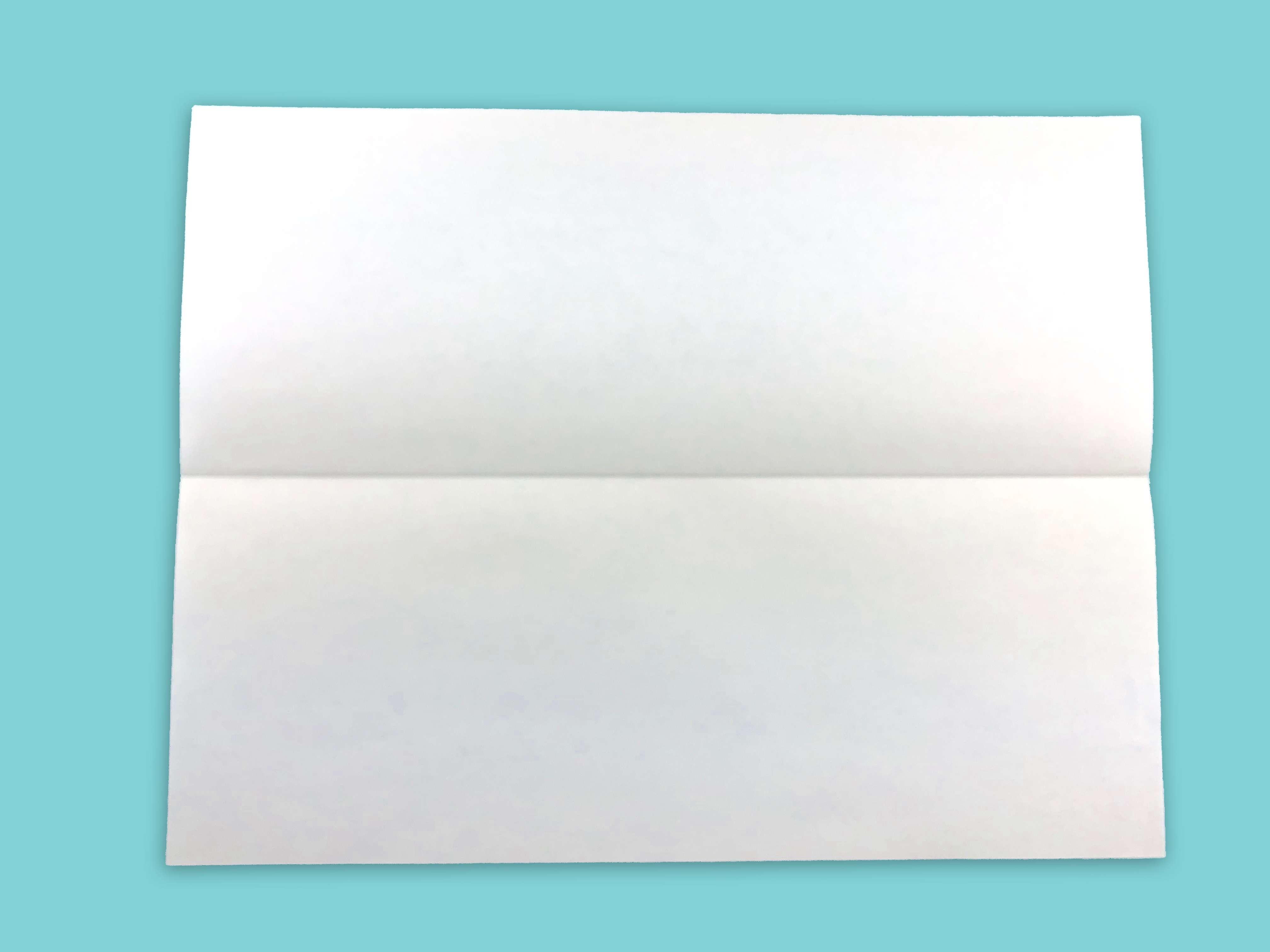 Folded sheet of paper