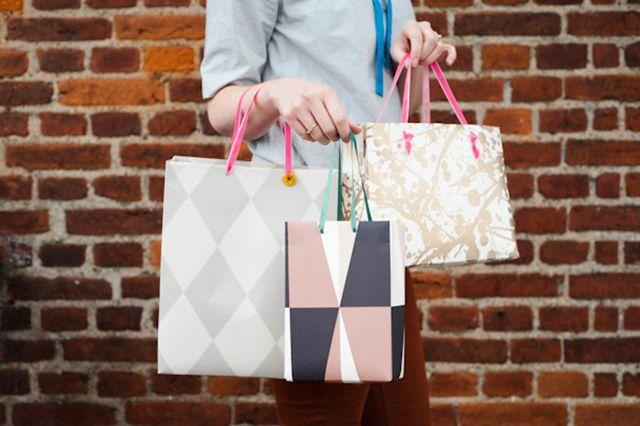 DIY Wallpaper Gift Bag