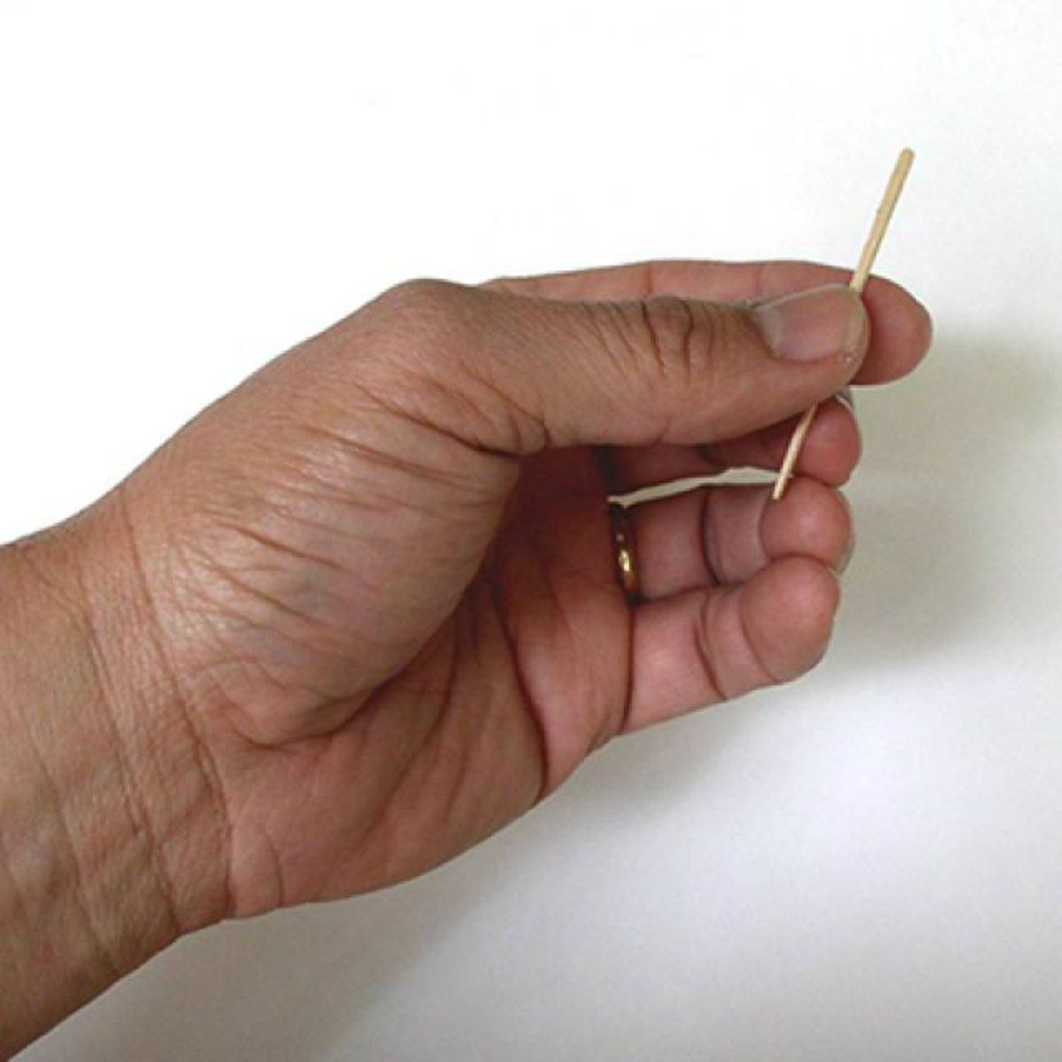 Holding a toothpick