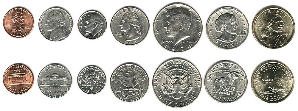 These coins are currently circulating in the United States as money.