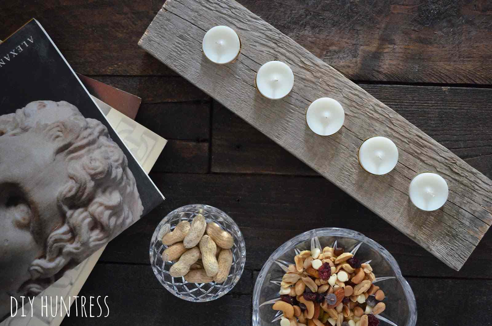 DIY Pallet Wood Candle Holder