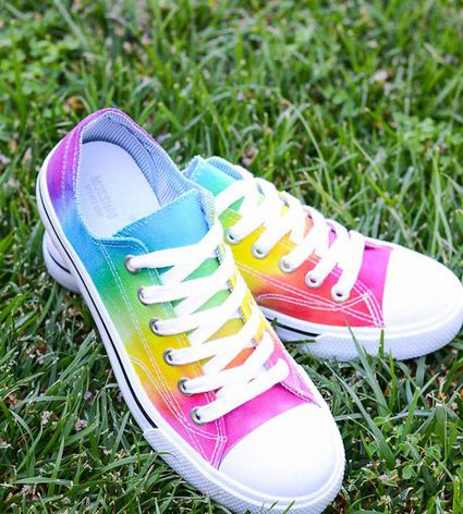 rainbow converse diy