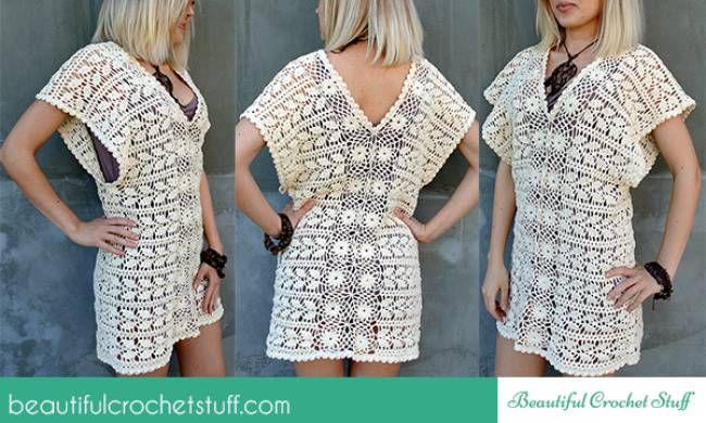 Leaf tunic crochet