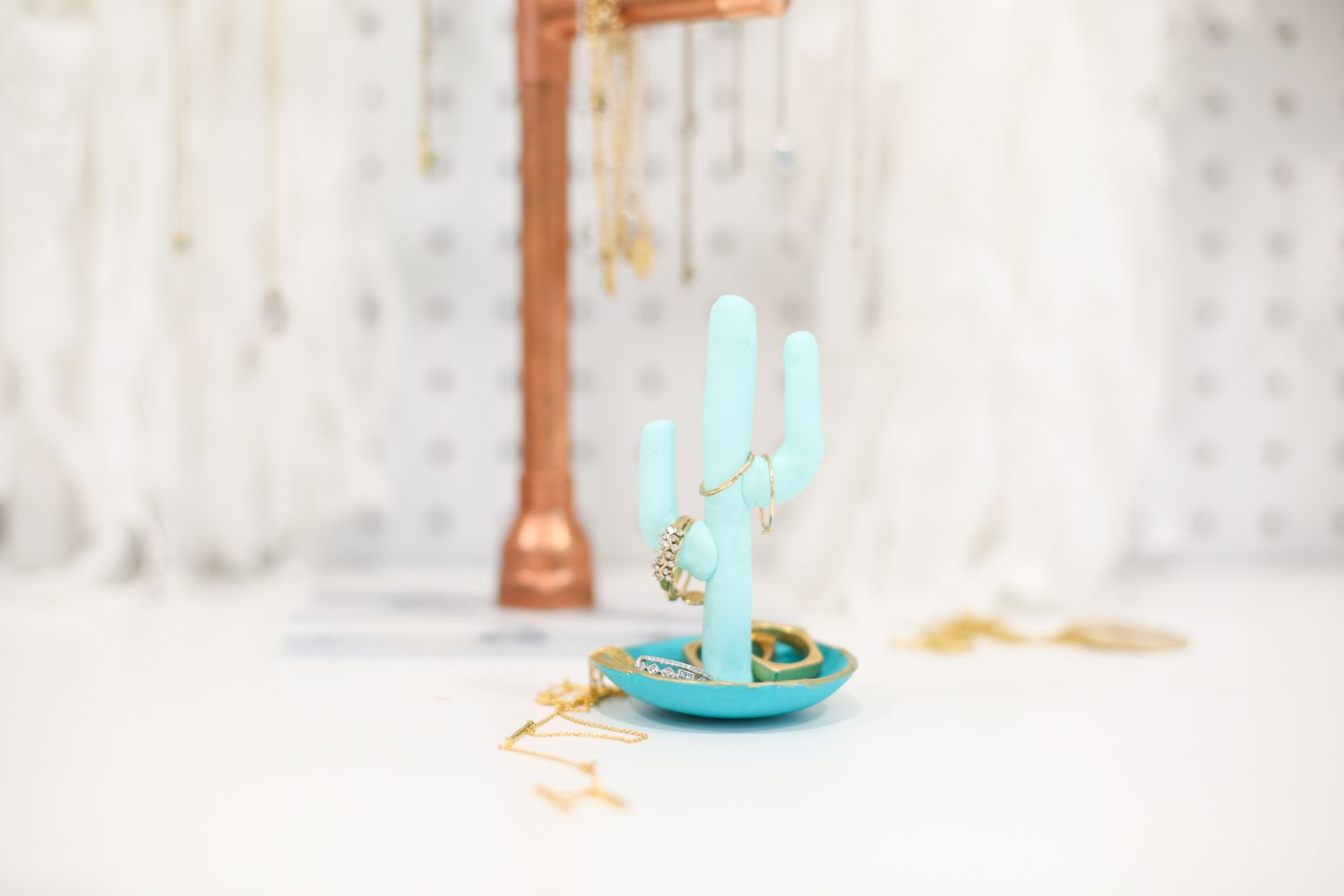 b448489ac5 How to Make a Clay Cactus Ring Holder