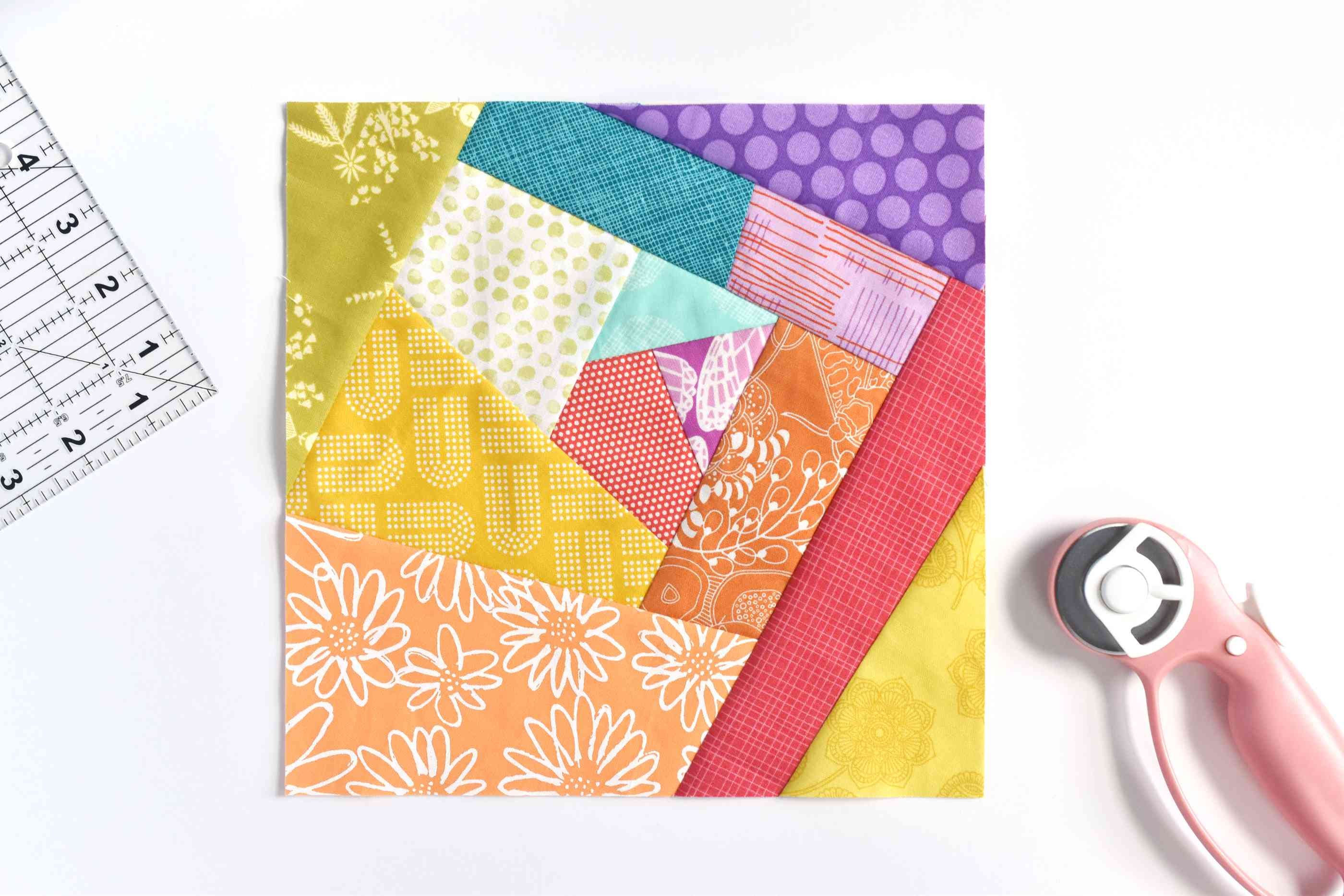 A finished crazy quilt block