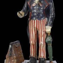 Antique Uncle Sam Mechanical Bank