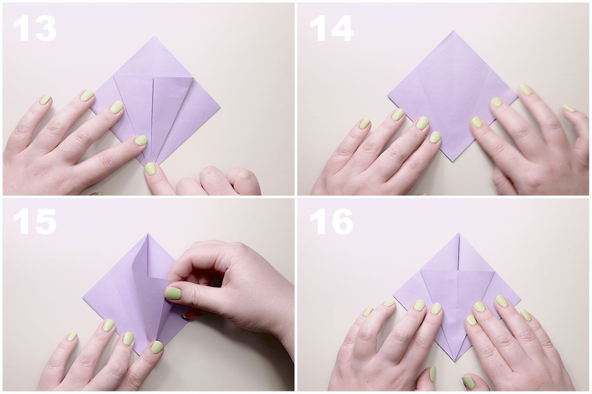 Traditional Origami Lily Flower Instructions Flowers Diagrams
