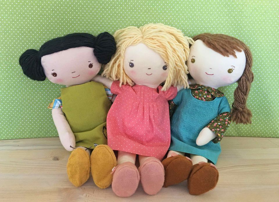 Kit, Chloe & Louise Doll Sewing Pattern