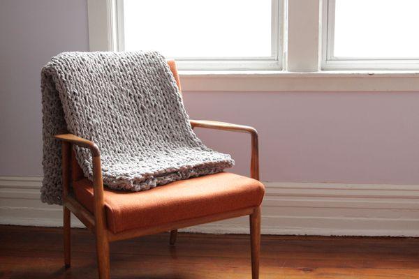 Bulky Throw Knitting Pattern