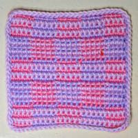Striped Checkerboard Baby Afghan Square