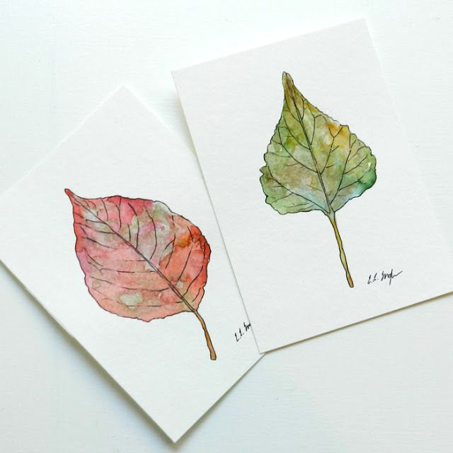 how to paint fall leaves