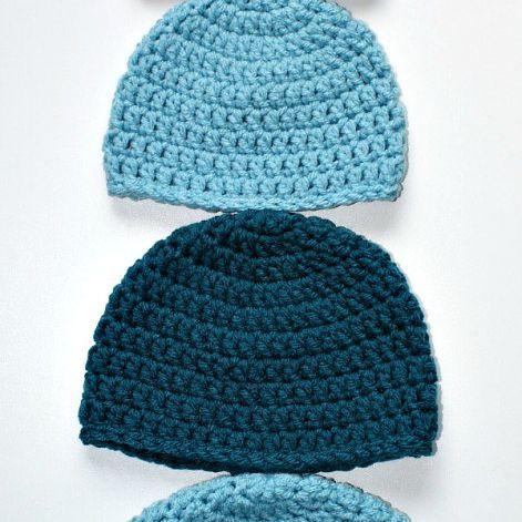Double Crochet Beanie Free Hat Pattern 28baf566024