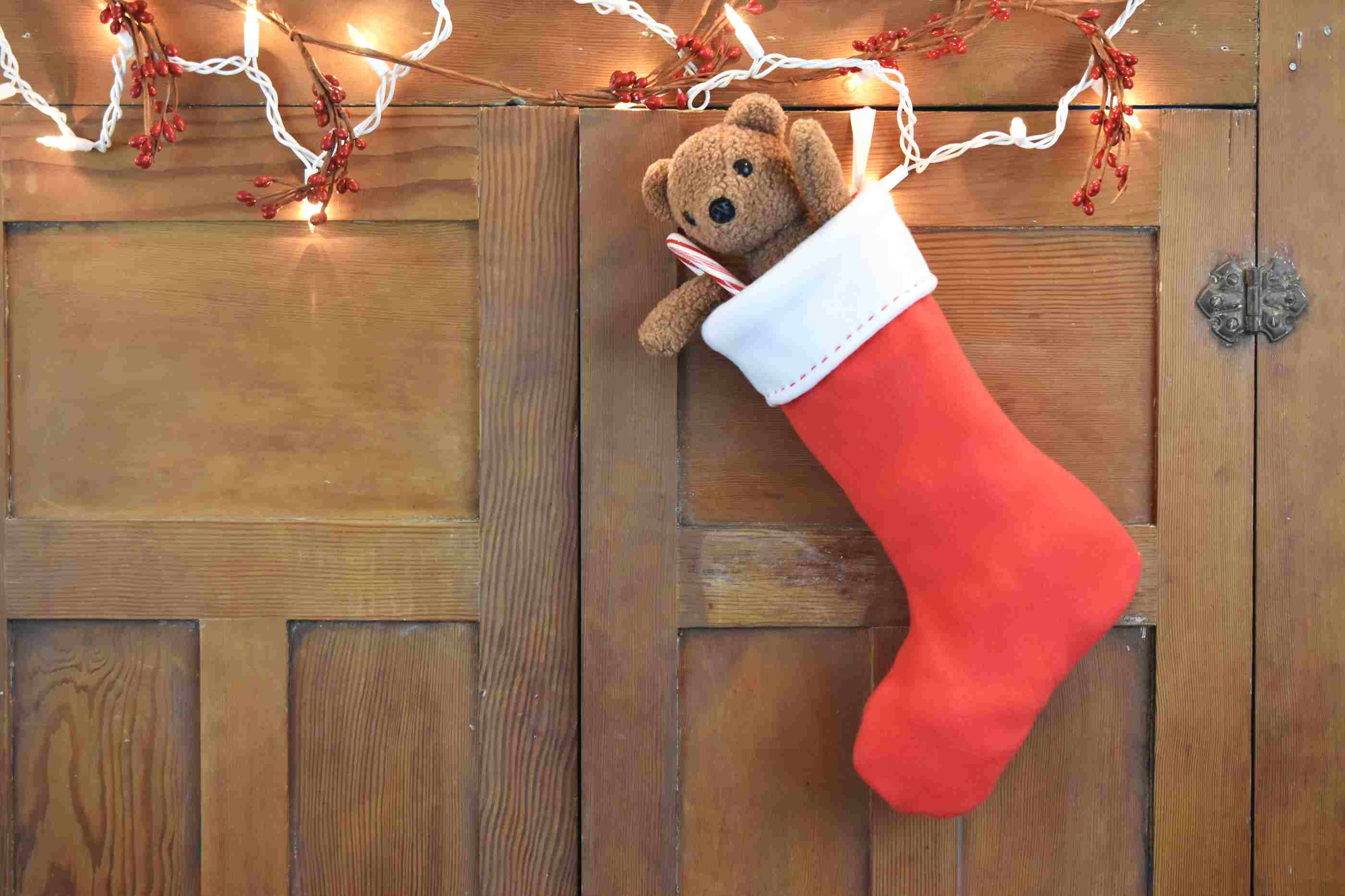 easy fleece christmas stocking