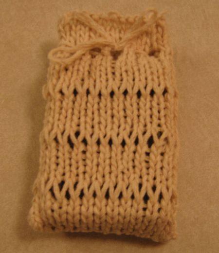 Knitting Pattern Adorable Dropped Stitch Soap Sachet