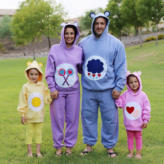 Care bear-themed family costume
