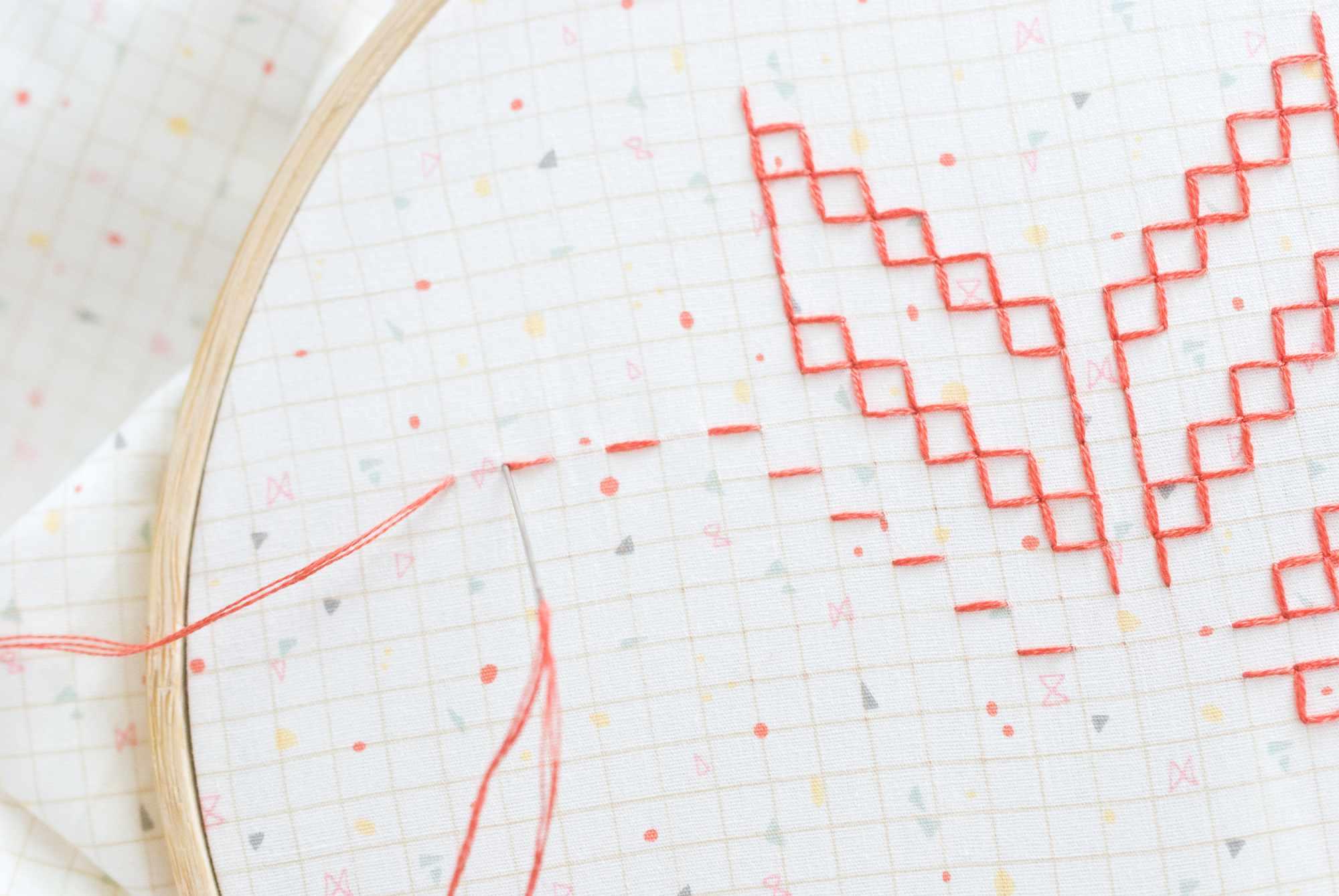 Gavnti and Murgi Stitches in Kasuti Embroidery