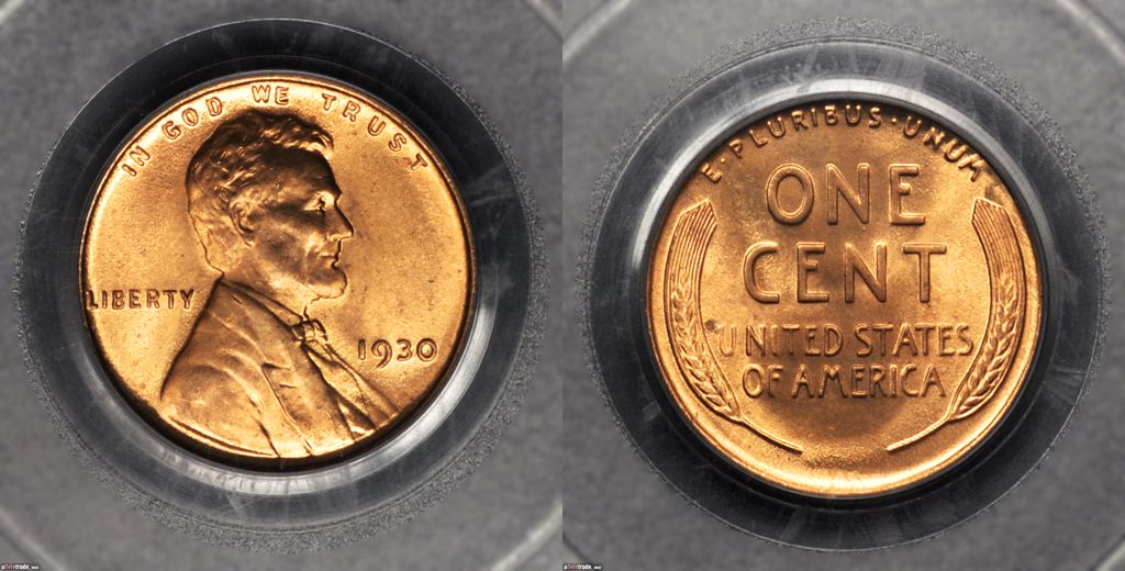 Lincoln Wheat Penny Graded Mint State-67 (MS67RD) Red