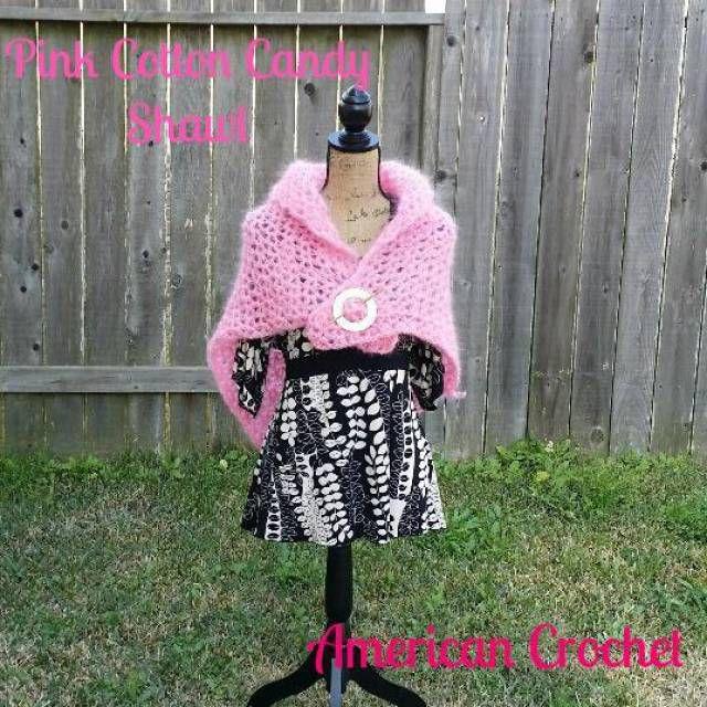 Pink Cotton Candy Crochet Shawl Pattern