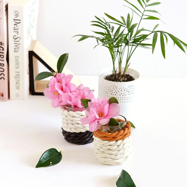 round cute small decorative bulk willow baskets with rope.htm 35 diy vases perfect for spring  35 diy vases perfect for spring