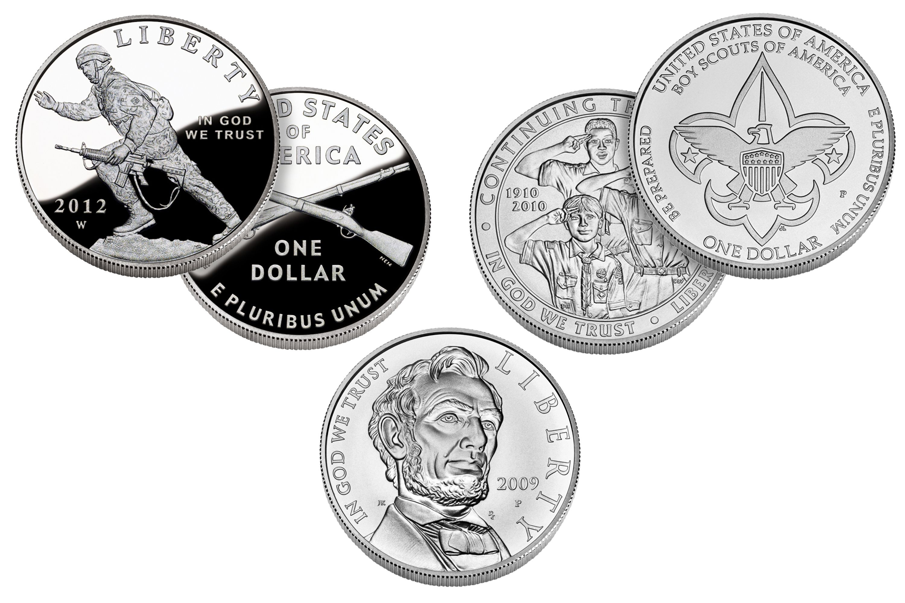 Several United States Commemorative Silver Dollars