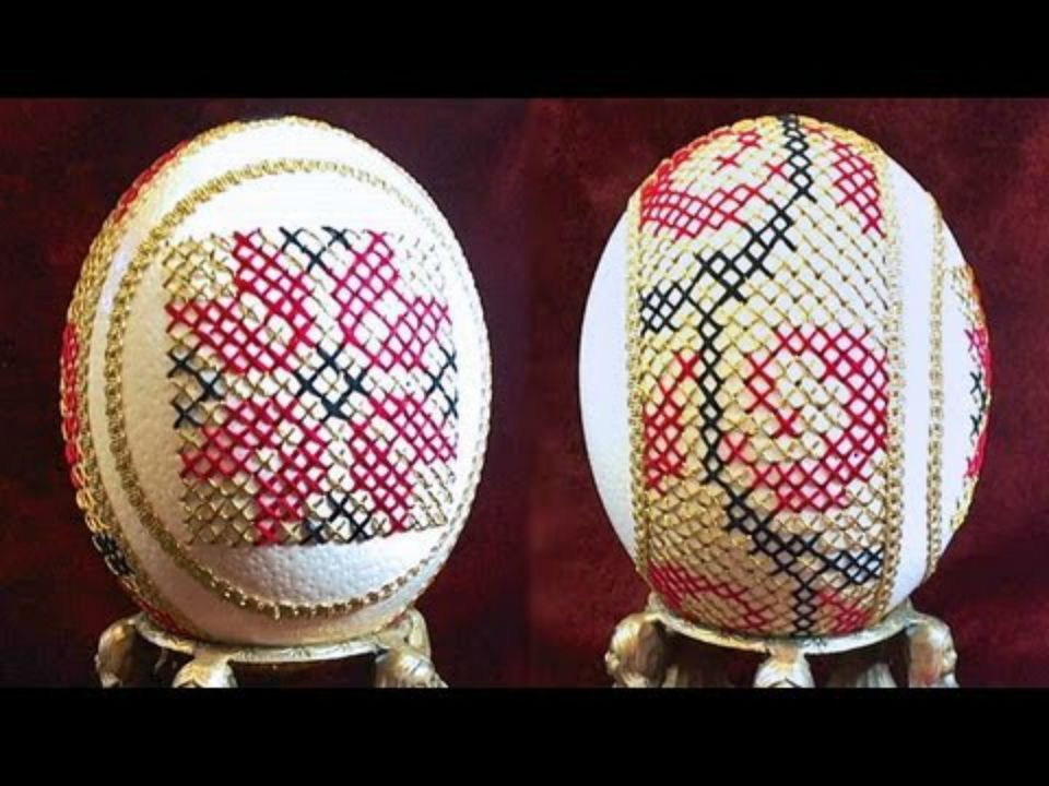 Cross stitch egg