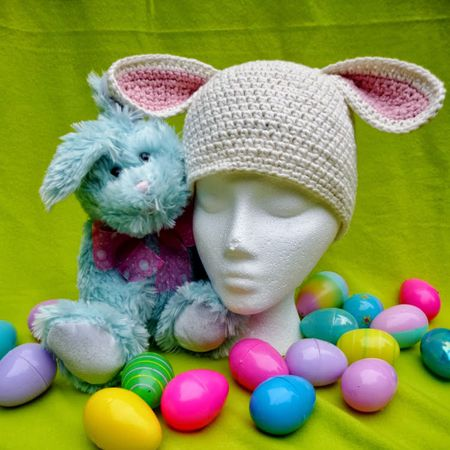 c8db48613 Adorable Bunny Hat Crochet Patterns for Easter