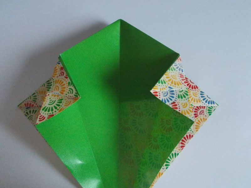 how to make origami paper baskets for easter