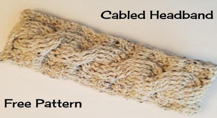 Cabled Headband Free Crochet Pattern