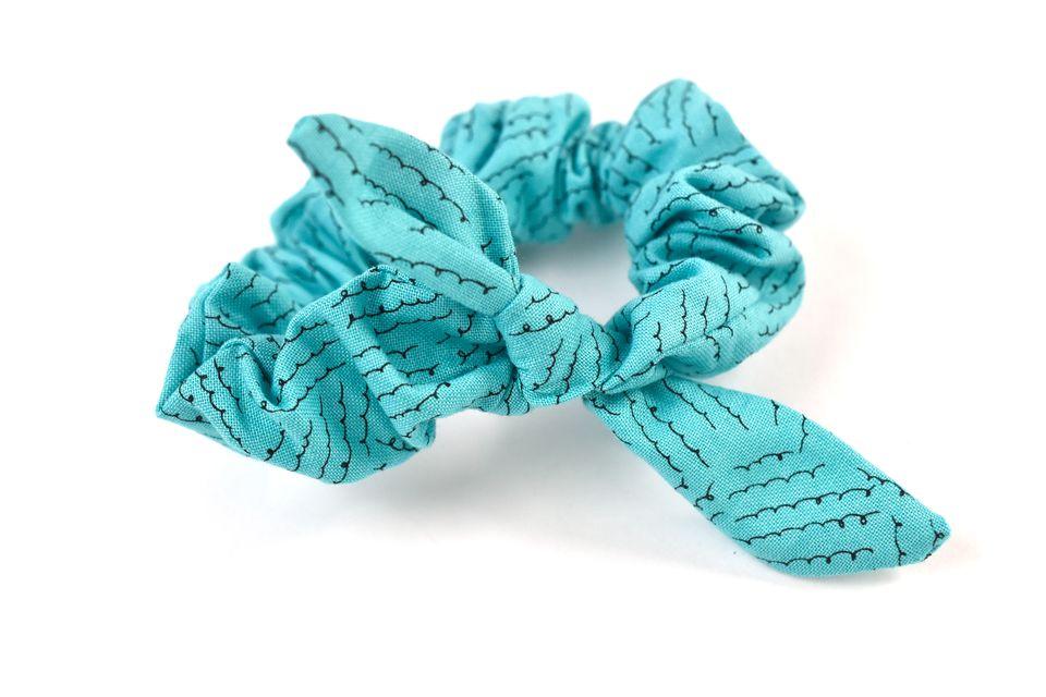 Adding the Tie Piece to the Scrunchie