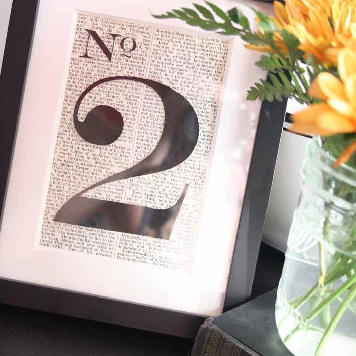 old book table numbers