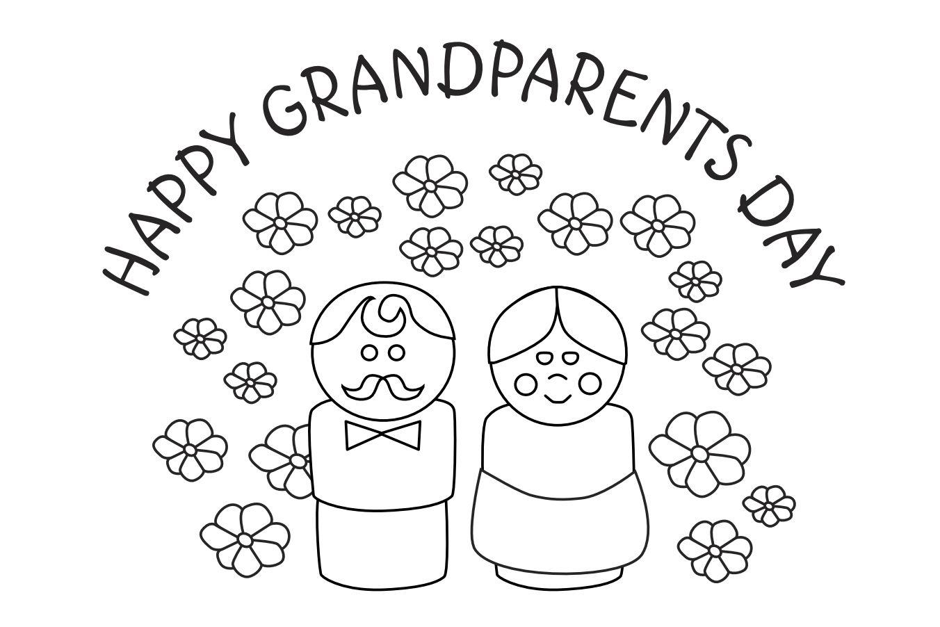 Открытка бабушке на день рождения раскраска от внука