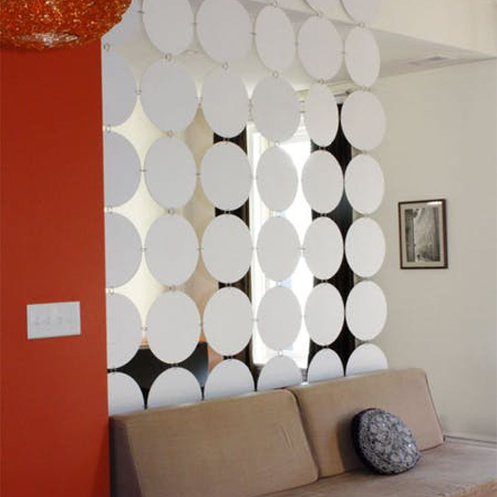 room divider made from records