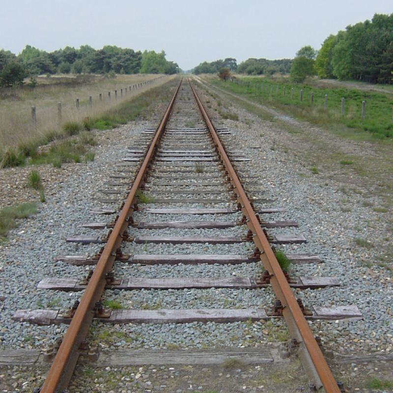railway track perspective example photo