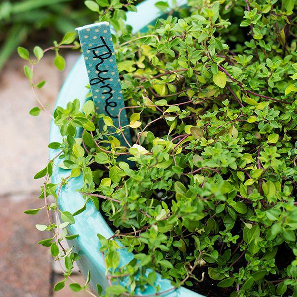 DIY Washi Tape Garden Markers