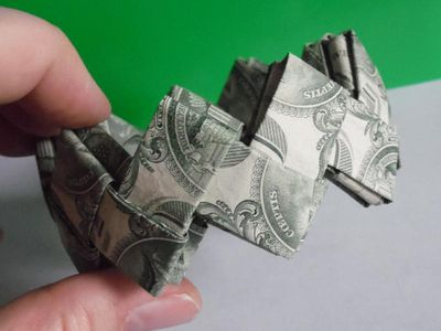 Money Origami Heart Instructions