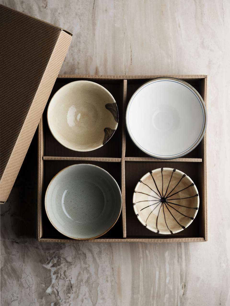 Empty Ceramic Bowl,Stack of plates and bowls in cardboard box,Bowl of china in cardboard box,Empty Ceramic Plate,
