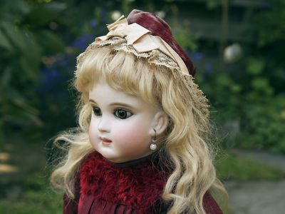 Original Antique German Doll Good Heat Preservation Bisque