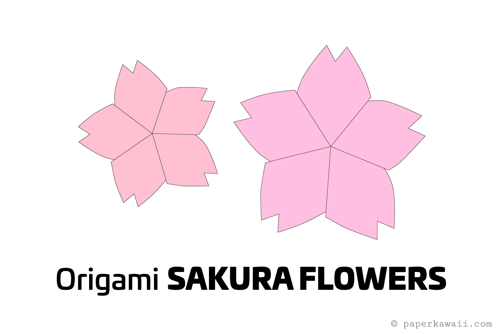 How to Make Origami Cherry Blossom Flower - YouTube | 1066x1600