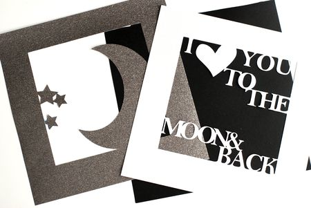 12 X Shadowbox Moon And Quote Die Cut Layers