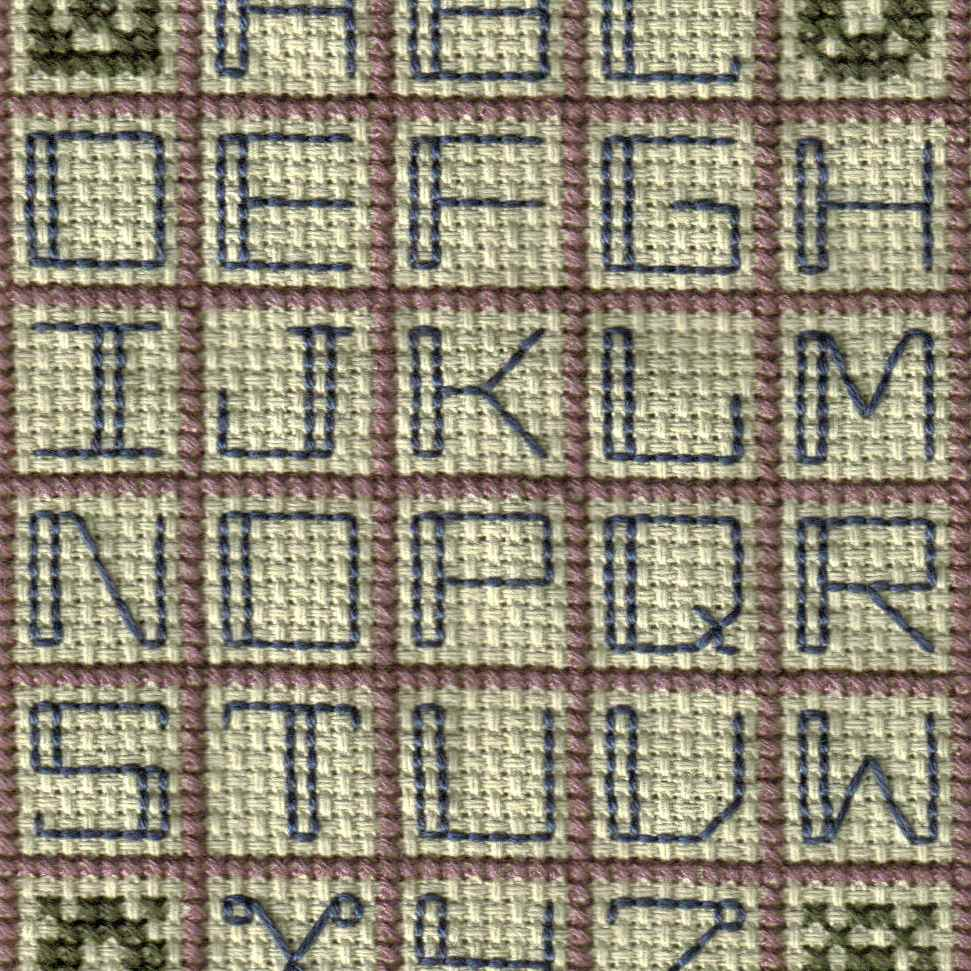 Cross Stitch Alphabet Patterns Magnificent Inspiration