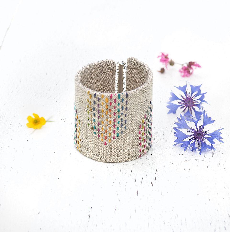 Arrows Linen Cuff Bracelet