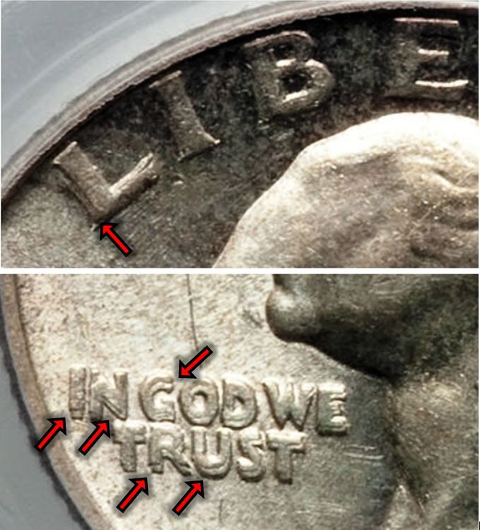 1943 Washington Silver Quarter Doubled Die Obverse (DDO) Variety