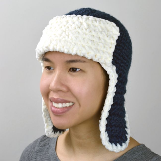 Aviator   Trapper Crochet Hat for The Whole Family e89ec6abffe