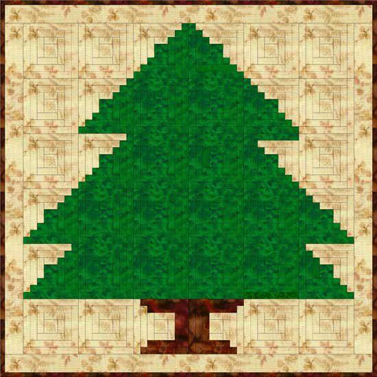 Log Cabin Christmas Tree Quilt Pattern