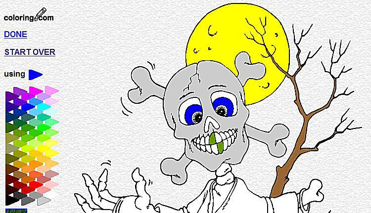 Coloring Online Halloween Pages